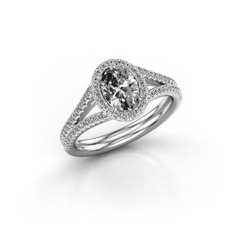 Verlovingsring Rachele 2 585 witgoud lab-grown diamant 1.174 crt