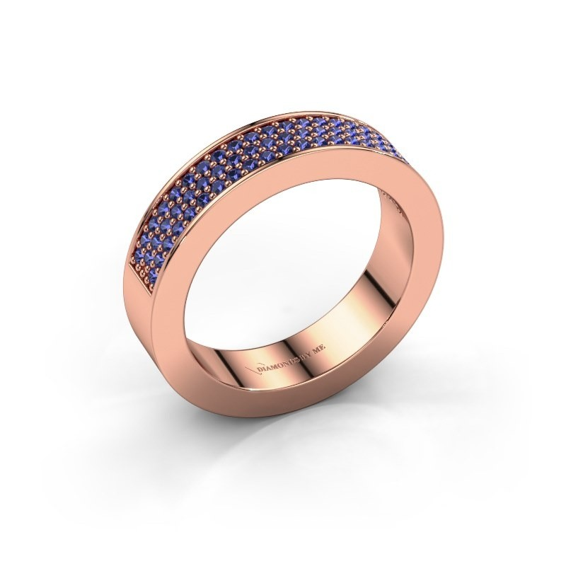 Ring Lindsey 2 375 rose gold sapphire 1.1 mm