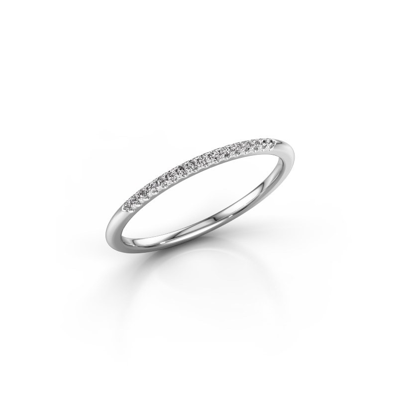 Stackable ring SR10B2H 585 white gold lab-grown diamond 0.08 crt
