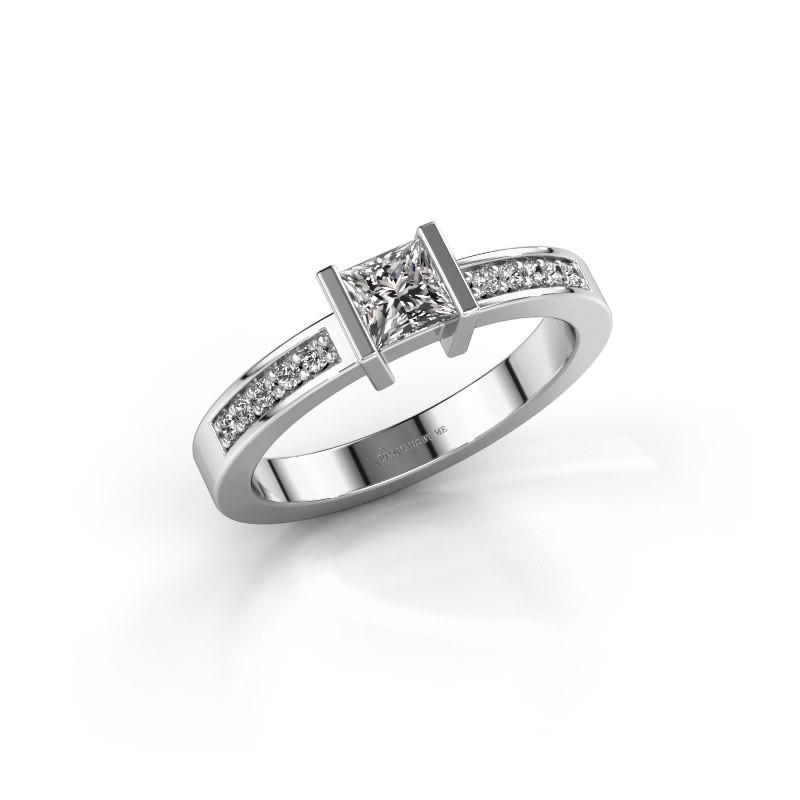 Engagement ring Jordan 950 platinum diamond 0.40 crt