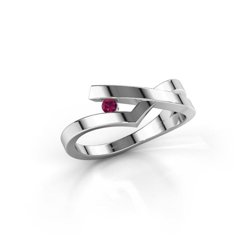 Ring Pamella 585 white gold rhodolite 2.2 mm