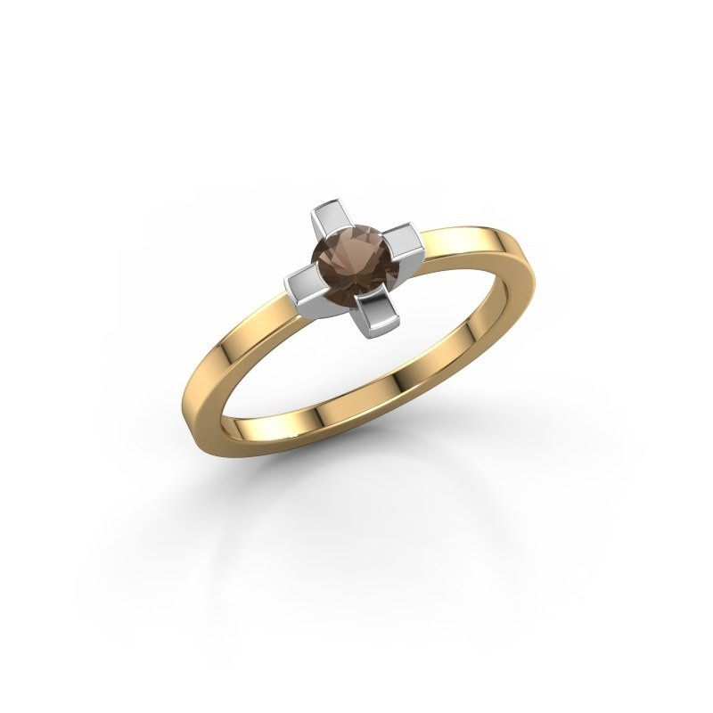 Ring Therese 585 goud rookkwarts 4.2 mm