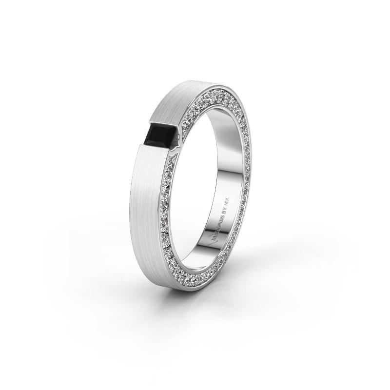 Wedding ring WH2140L14B 950 platinum black diamond ±3,5x2 mm