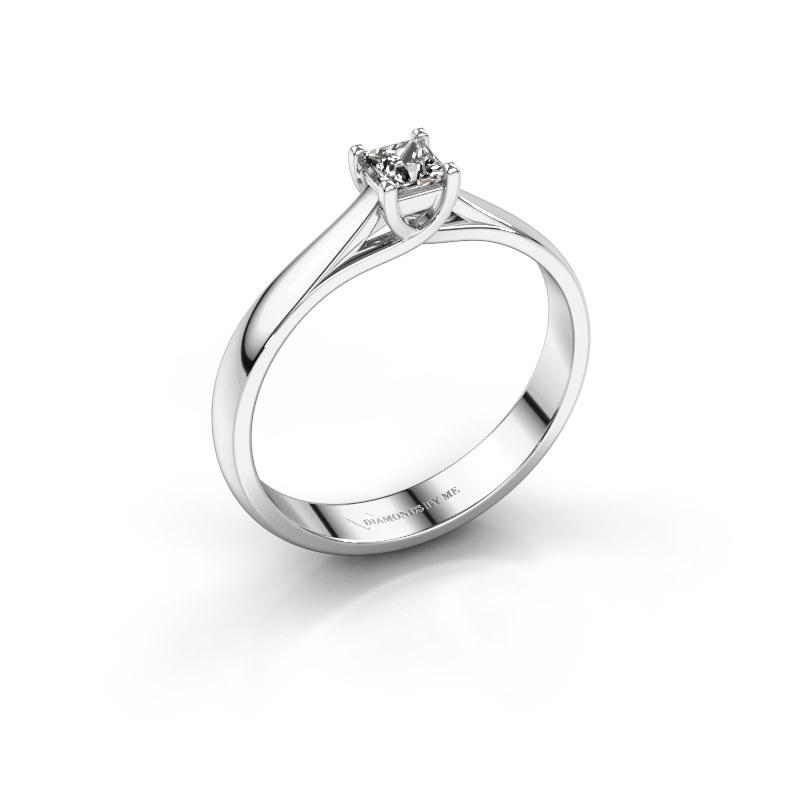 Bague de fiançailles Mia Square 925 argent diamant 0.17 crt