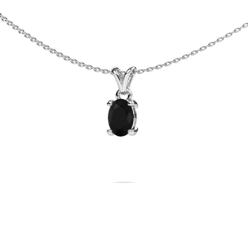 Ketting Lucy 1 585 witgoud zwarte diamant 0.96 crt