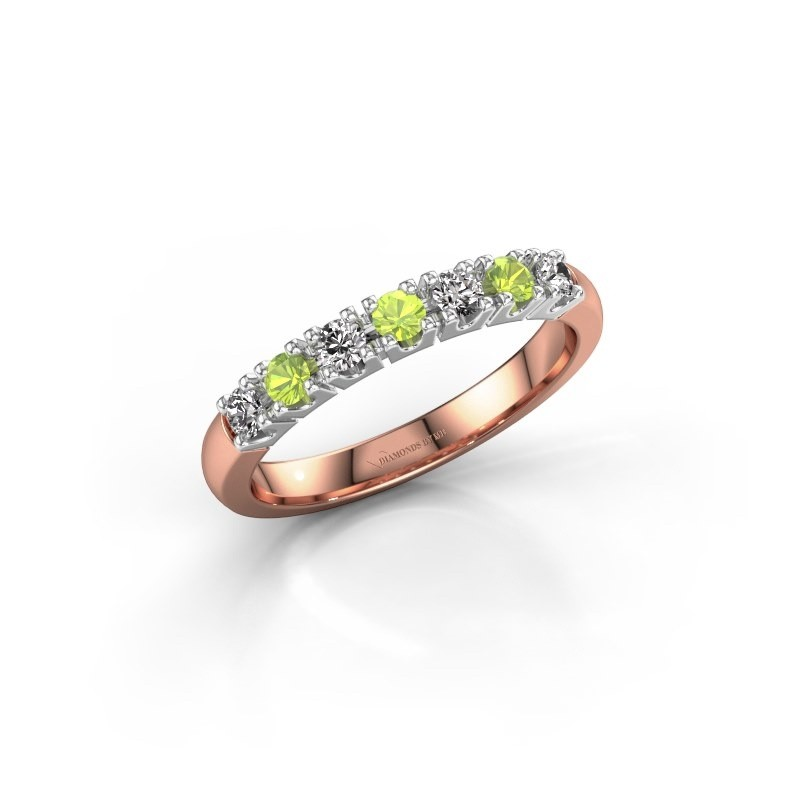 Engagement ring Rianne 7 585 rose gold peridot 2.4 mm