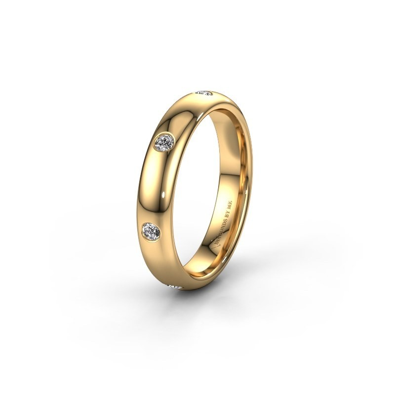 Wedding ring WH0105L34BP 375 gold zirconia ±4x2 mm