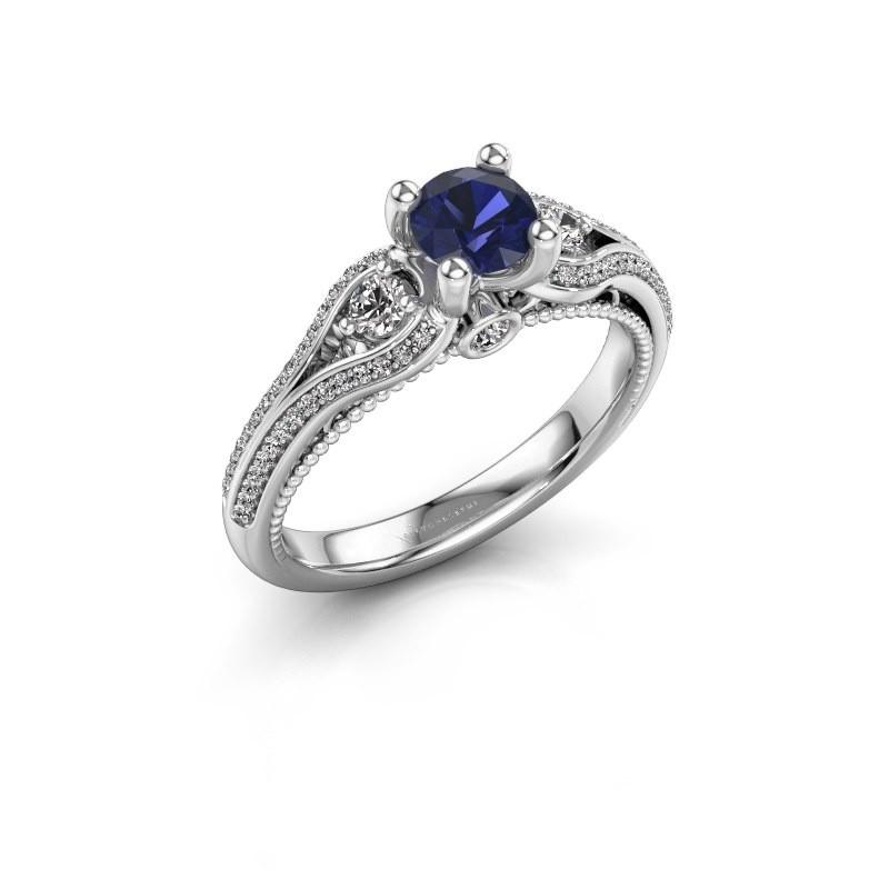 Engagement ring Nikita 585 white gold sapphire 5 mm