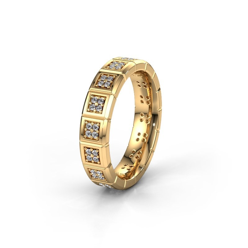 Trouwring WH2056L15DP 585 goud diamant ±5x2.4 mm