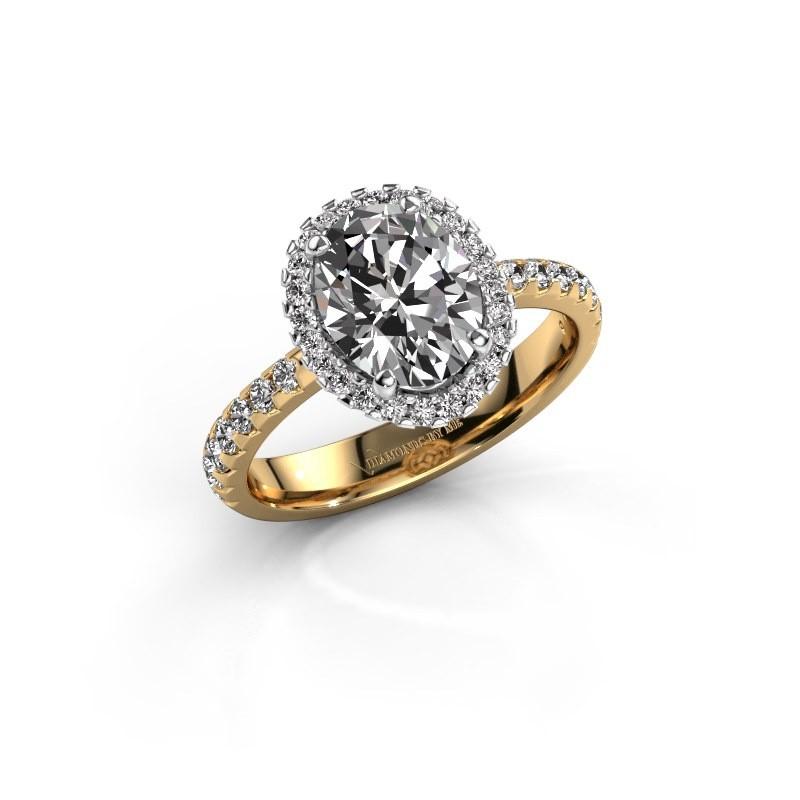 Bague de fiançailles Lavelle 585 or jaune diamant 2.292 crt