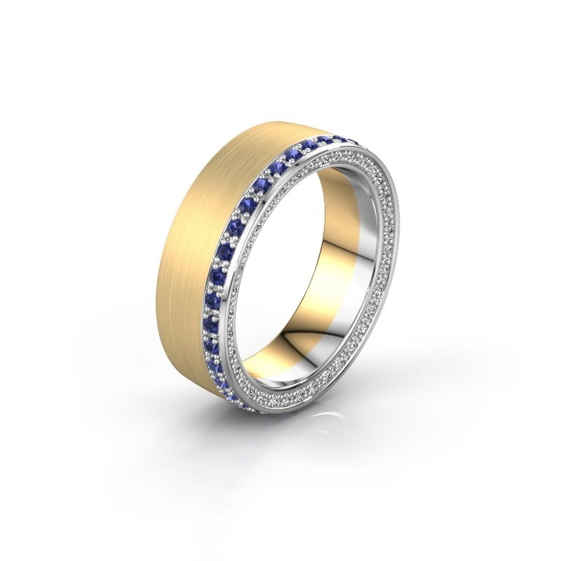 Wedding ring WH2224L26C8 585 gold sapphire 1.3 mm ±6x2.2 mm