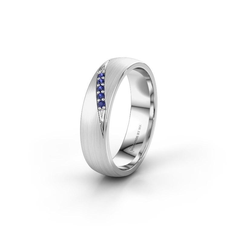 Wedding ring WH2150L25AM 950 platinum sapphire ±5x1.7 mm