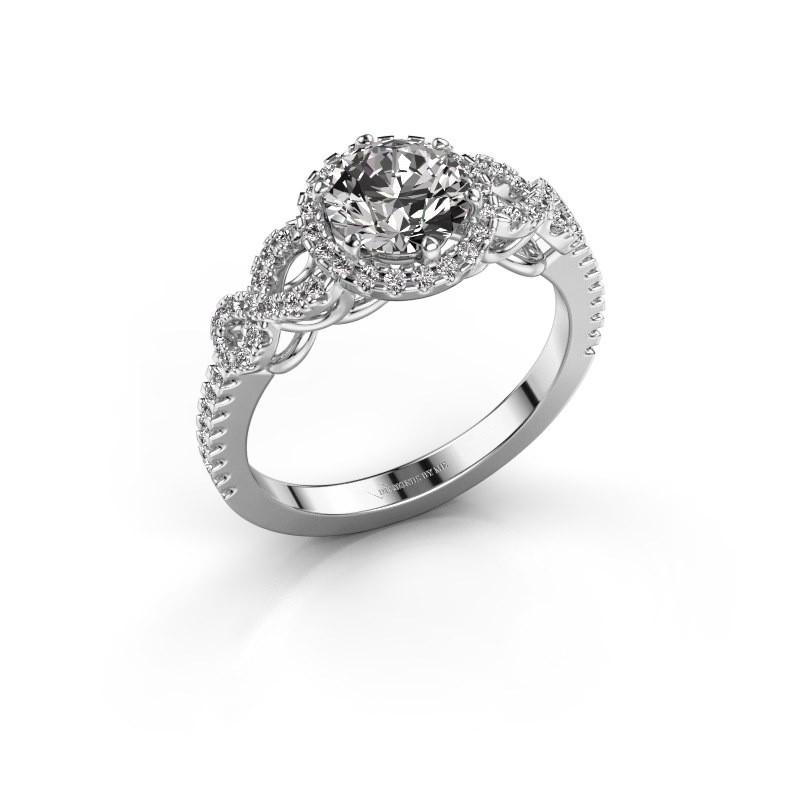 Verlovingsring Sasja 585 witgoud diamant 1.325 crt