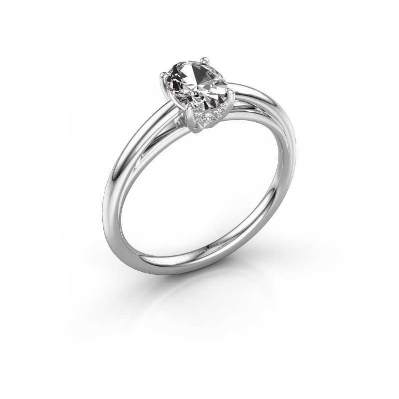 Verlovingsring Haley OVL 1 585 witgoud lab-grown diamant 0.80 crt