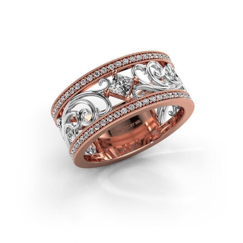 Ring Danae 585 rose gold lab-grown diamond 0.58 crt