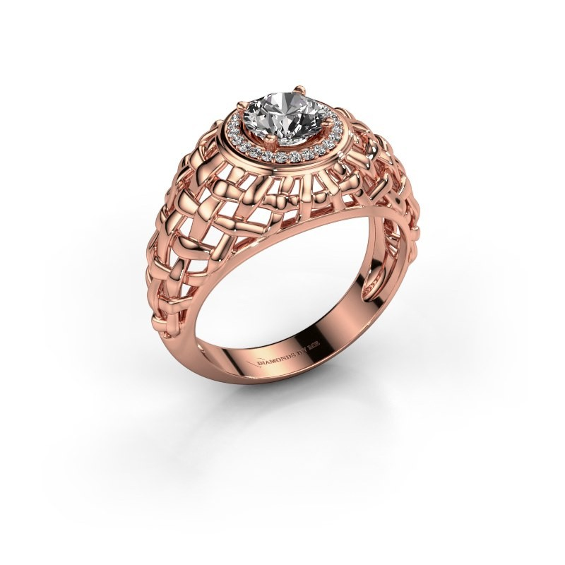 Pinky ring Jens 375 rose gold diamond 1.12 crt
