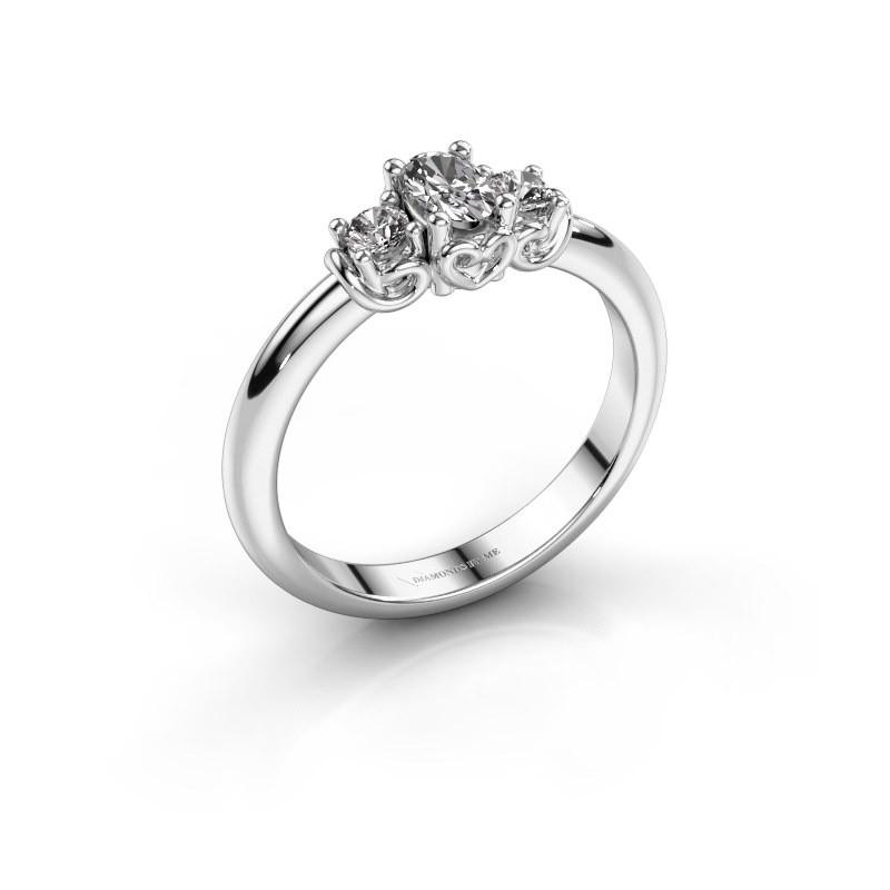 Bague de fiançailles Frederique 950 platine diamant 0.39 crt