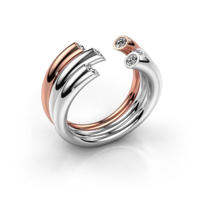 Ring Noelle 585 Weißgold Diamant 0.33 crt