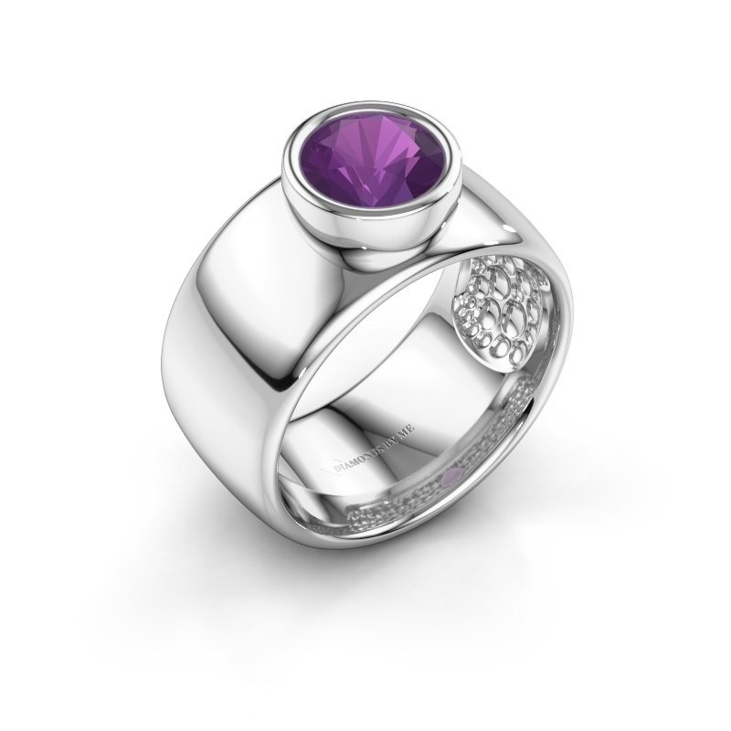 Ring Klarinda 925 silver amethyst 7 mm