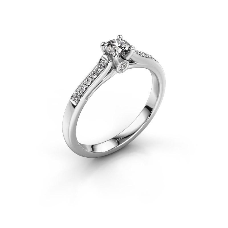 Verlovingsring Valorie 2 925 zilver diamant 0.30 crt
