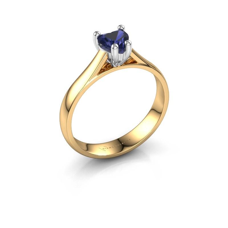 Engagement ring Sam Heart 585 gold sapphire 5 mm