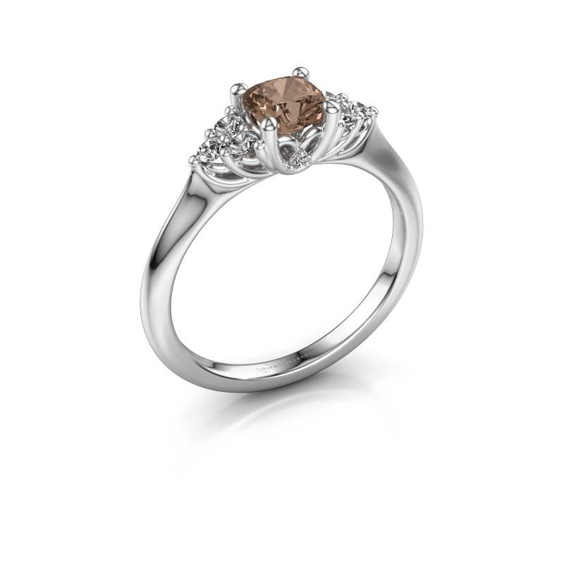 Verlovingsring Felipa CUS 925 zilver bruine diamant 0.693 crt