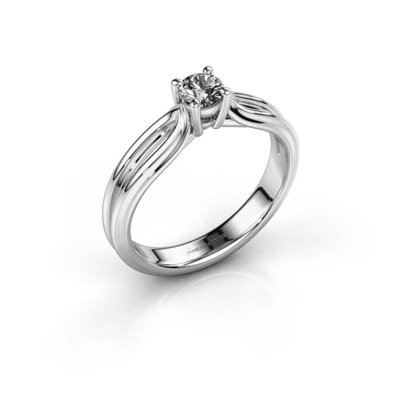 Bague de fiançailles Antonia 1 950 platine diamant synthétique 0.25 crt