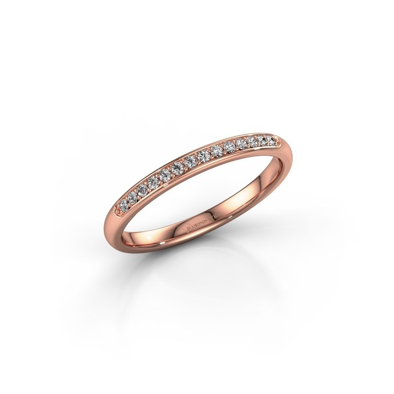 Stackable ring SR20B4H 375 rose gold lab grown diamond 0.113 crt