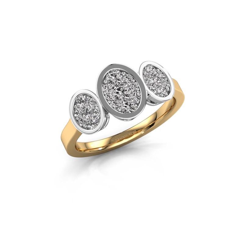Verlovingsring Karleen 585 goud diamant 0.596 crt