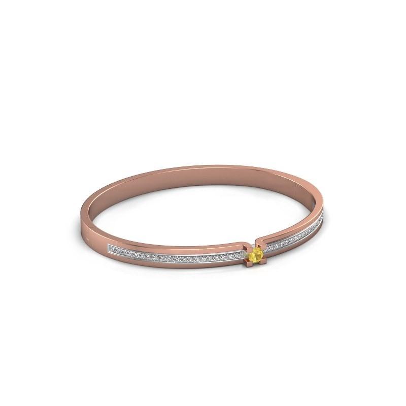 Armband Myrthe 585 rosé goud gele saffier 4 mm