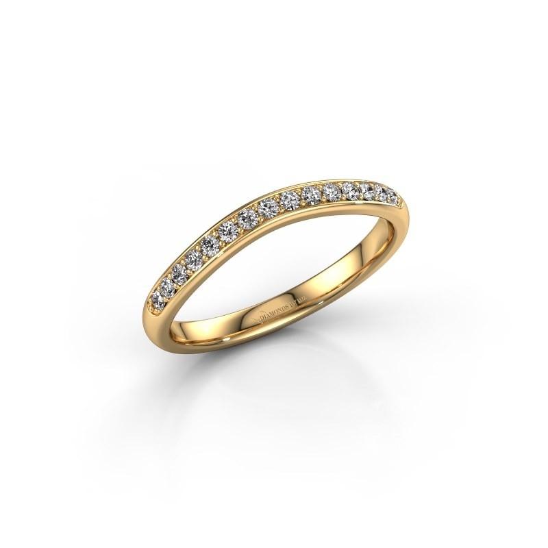 Aanschuifring SR20A6H 375 goud lab-grown diamant 0.168 crt