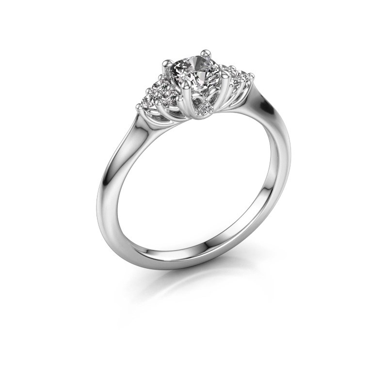 Verlovingsring Felipa CUS 585 witgoud diamant 0.633 crt