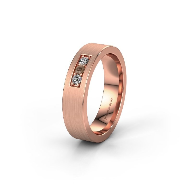 Ehering WH0110L15BM 375 Roségold Braun Diamant ±5x2 mm