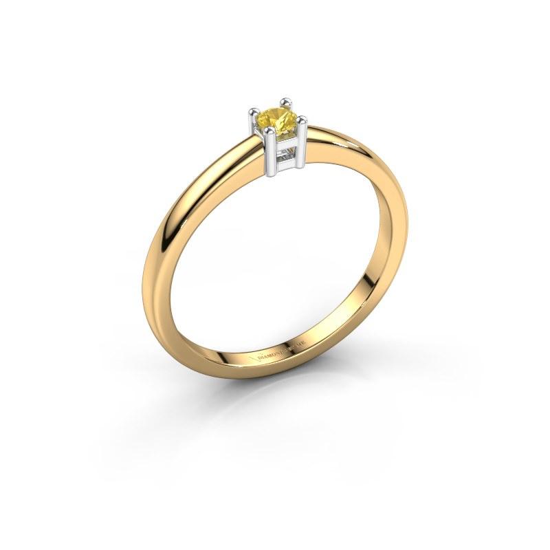 Promise ring Eline 1 585 goud gele saffier 3 mm