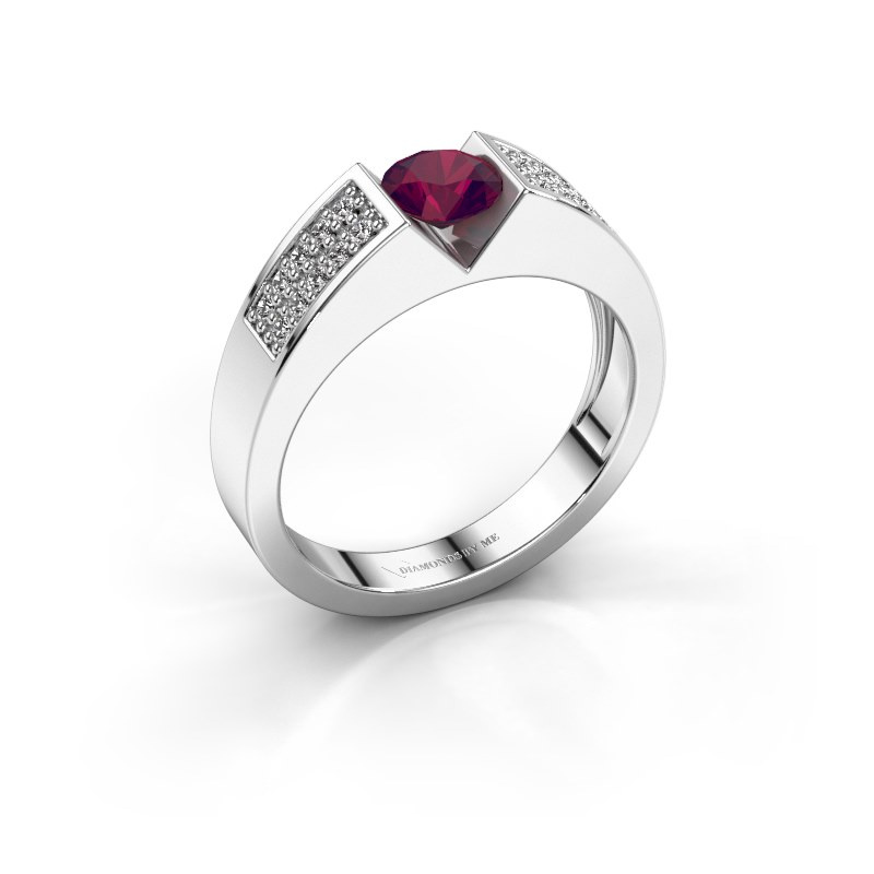 Engagement ring Lizzy 3 925 silver rhodolite 5 mm