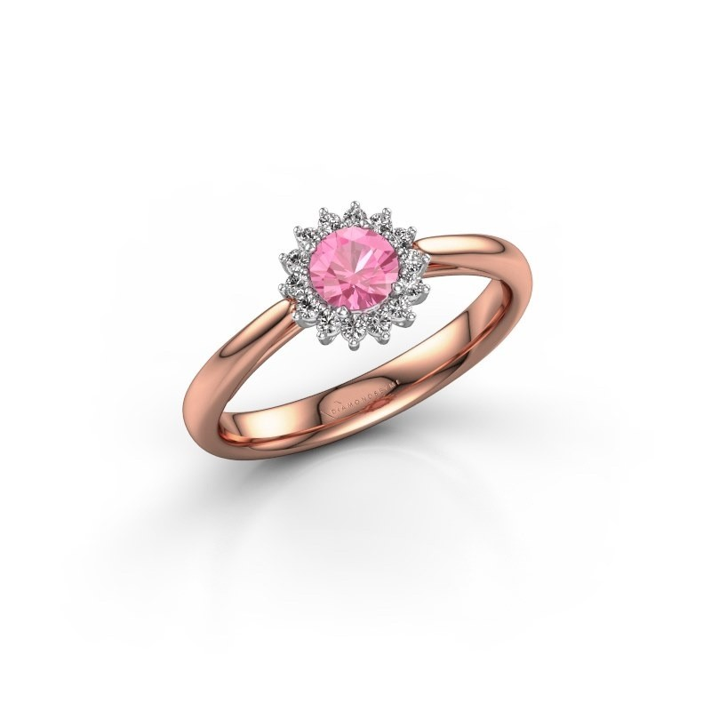 Engagement ring Tilly RND 1 585 rose gold pink sapphire 4.2 mm