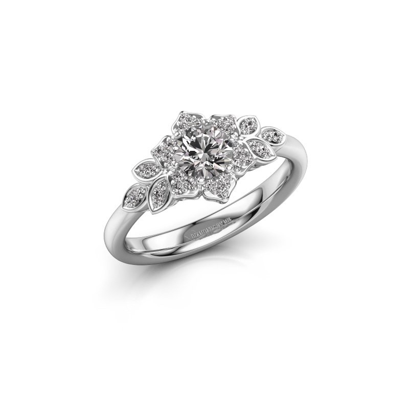 Engagement ring Tatjana 585 white gold lab-grown diamond 0.635 crt