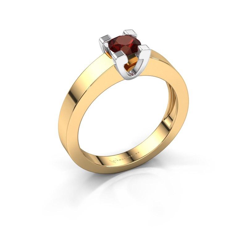 Promise ring Anne 1 585 goud granaat 4.7 mm