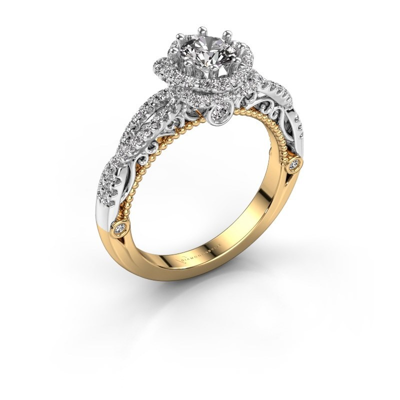 Engagement ring Lysanne 585 gold zirconia 5 mm