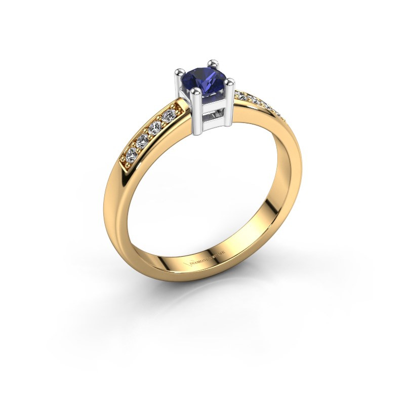 Engagement ring Eline 2 585 gold sapphire 3.7 mm