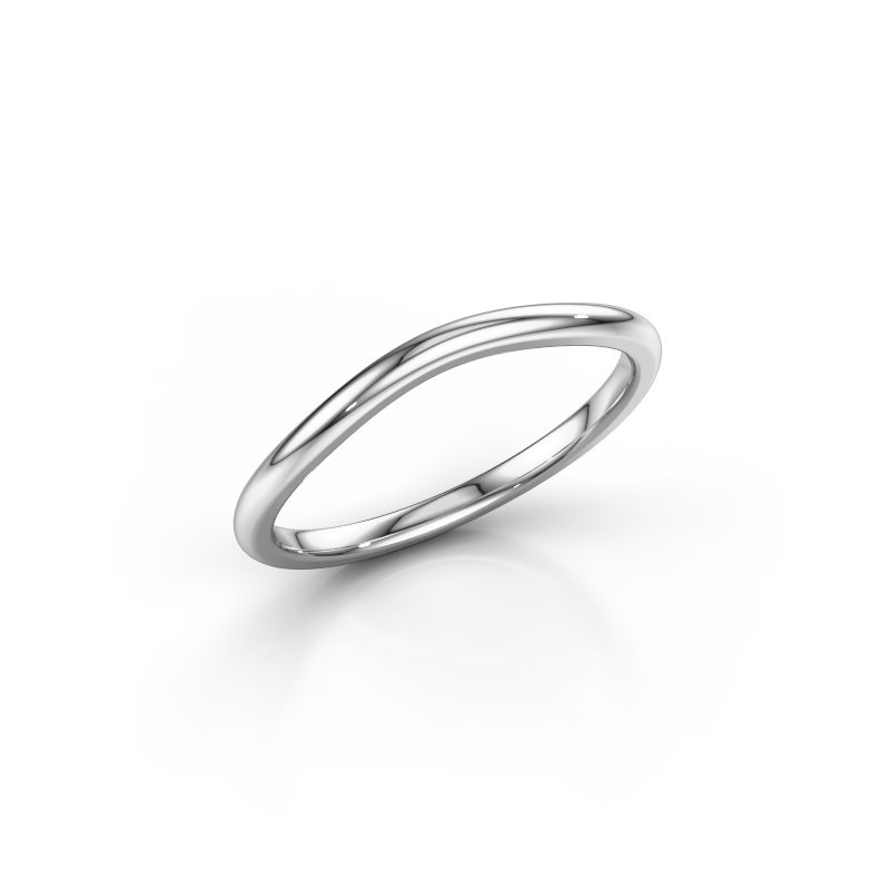 Stackable ring SR30A4 585 white gold