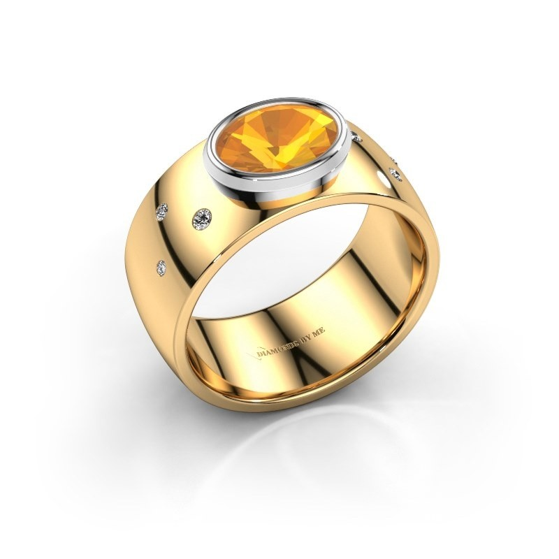 Ring Wilma 2 585 goud citrien 8x6 mm