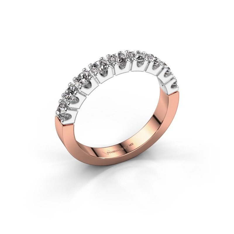 Bague de fiançailles Dana 9 585 or rose diamant 0.27 crt