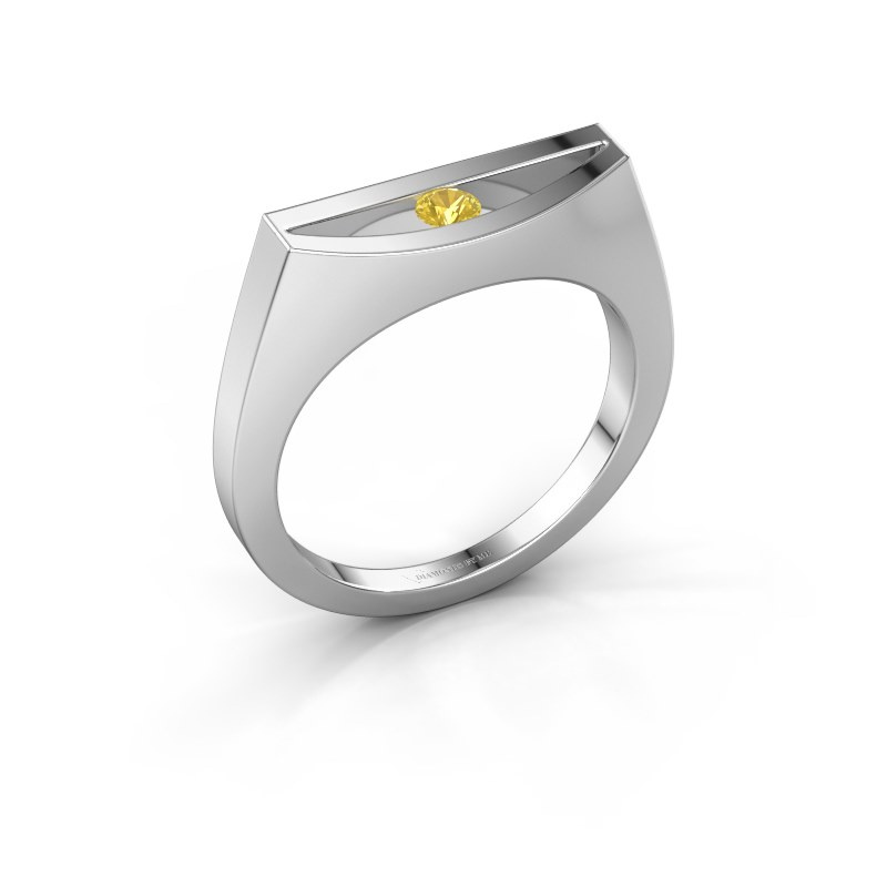 Ring Milou 585 white gold yellow sapphire 3 mm