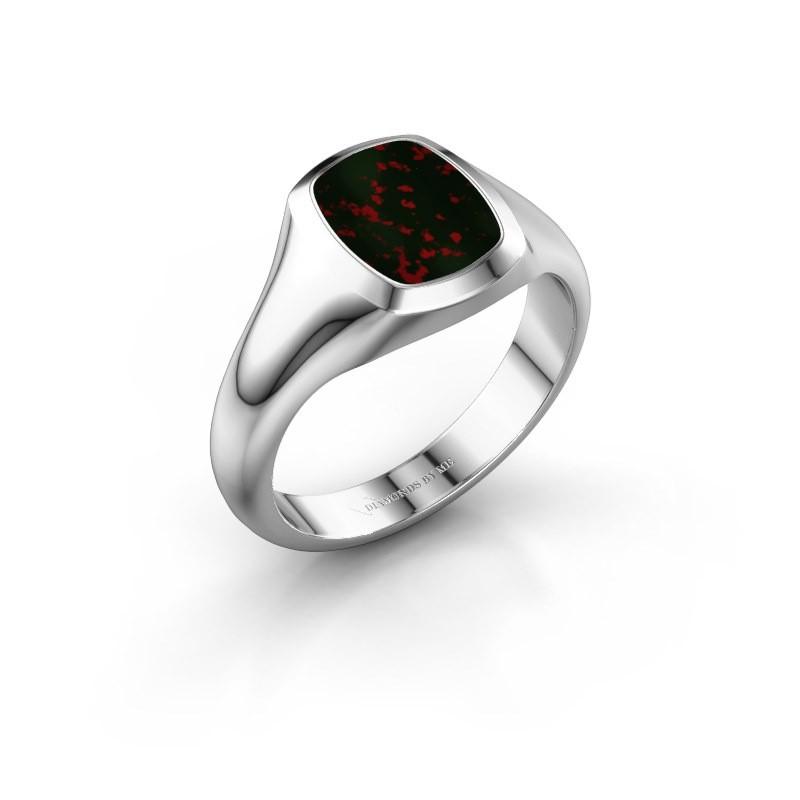 Signet ring Zelda 1 925 silver bloodstone 10x8 mm