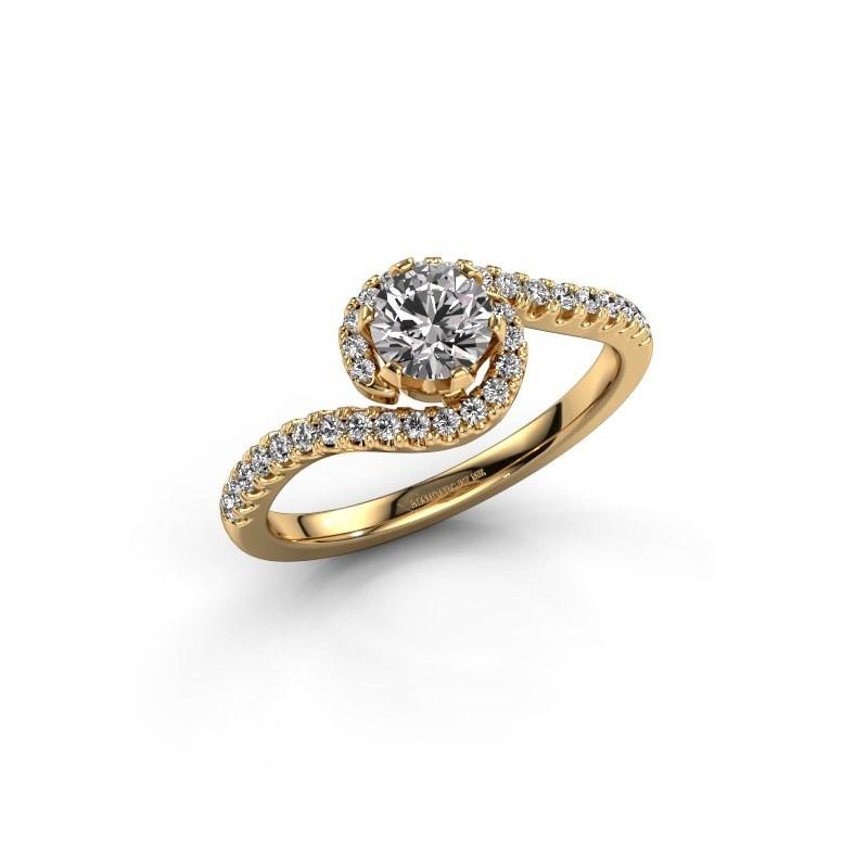 Verlovingsring Elli 375 goud zirkonia 5 mm