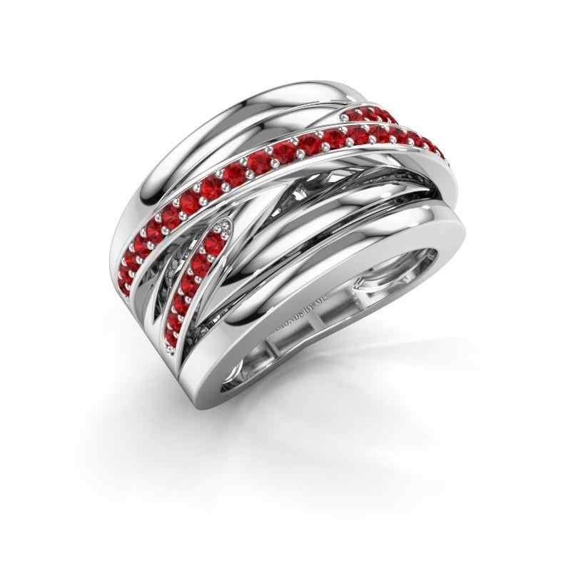 Ring Clair 3 950 Platin Rubin 1.5 mm