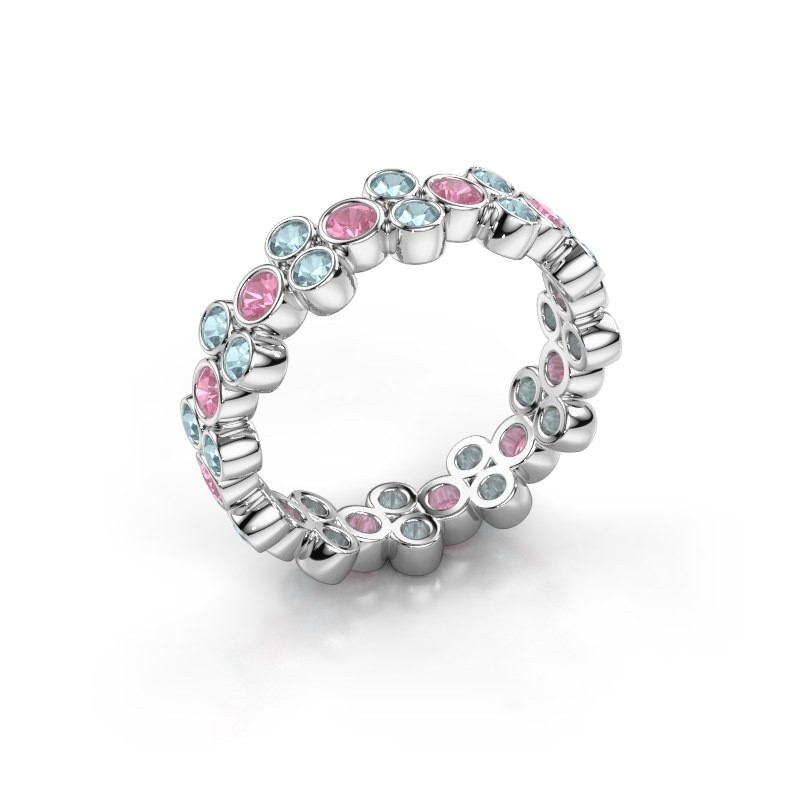 Ring Victoria 585 white gold pink sapphire 2.4 mm