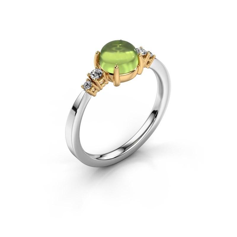 Ring Regine 585 white gold peridot 6 mm