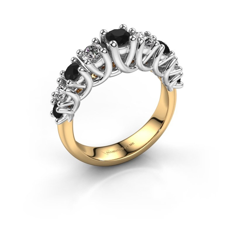 Engagement ring Fatima 585 gold black diamond 1.072 crt